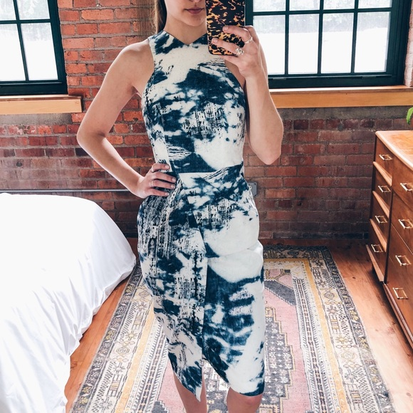 Forever 21 Dresses & Skirts - Ministry of Style • Blue Pattern Midi Dress